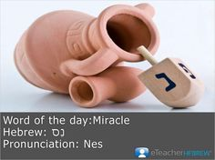 Word of the day:Miracle  Hebrew: נֵס   Pronunciation: Nes