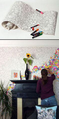 Wall art- this looks like fun!