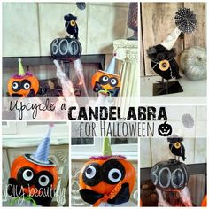 Halloween Candleabra makeover at www.diybeautify.com #trickortreat