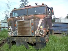 den berufskraftfahr, abandon car, old trucks, httpwwwbkftvde 1953, für den, kenworth