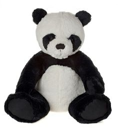 My First Panda Bear, Black-MFPB14LBK  14 Inches created in plush, jointed  Machine Washable Suitable For All Ages