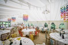 Sarah and Jon�s Homemade Rainbow Wedding. By  Pixies in The Cellar