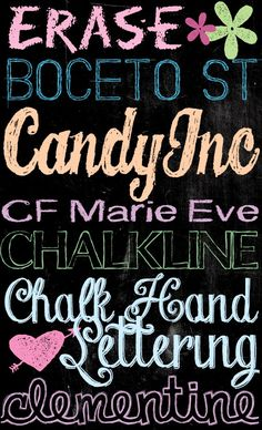 Tons of Free Chalkboard Fonts and Dingbats! | U Create