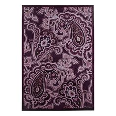 "I pinned this Paisley 5'3"" x 7'7"" Rug Design Sample in Dark Violet from the Fables Collection event at Joss and Main!"