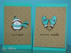 These mini cards are simply adorable