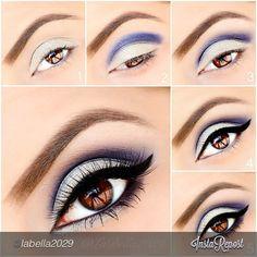 Lilac silver makeup tutorial