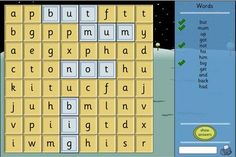 Word Search - High Frequency Version. Interactive word search puzzle with changeable difficulty settings. Perfect for solo or group work and great for use with an interactive whiteboard. From TES iboard. Ages 4-7.