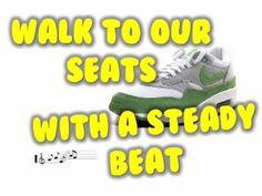 transition song seat, transit song, kindergarten transition songs, walk