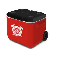 Firefighter Crest 60-Quart Wheeled Coleman Cooler (holds up to 95 cans) | Shared by LION
