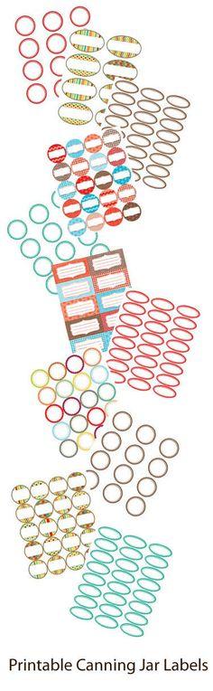 Free Canning Jar Labels