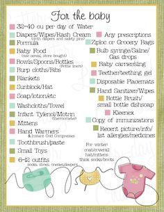 Baby 72 Hour Kits