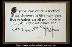 Football quote...For