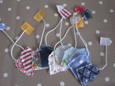 scrap fabric play tea bags another good thing for babysitting!!