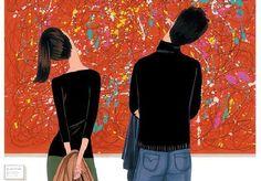 looking at art :)
