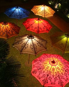 beautiful umbrellas by Hedge Row Studio