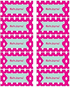 Free Math Journal Labels