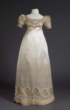 Wedding Dress (Bodice, Skirt, Petticoat) Date Made 1823 Object Number 1973-06-1 a-c