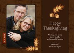 Thanksgiving Acorns Thanksgiving Card