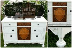 My Passion For Decor: 1920's Dresser Rescue....The Saga of the Peeling Veneer