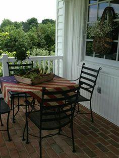 flags, tablecloths, flag tablecloth, porches
