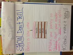 Show don't tell for poetry anchor chart!