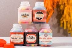 Free Printable: Vintage Valentine Milk Labels