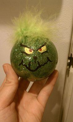 Grinch Ornament -Handmade