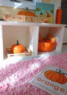 Orange Tot School in October- Montessori and Reggio activities