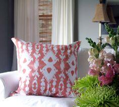 DIY Ikat print pillow