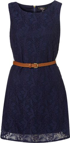 Bridesmaid dress?  Belted Lace Dress