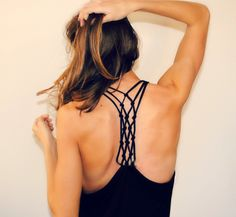 DIY tshirt into knotted racerback | Trash To Couture