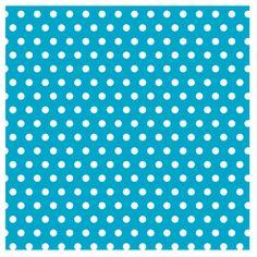 Caribbean and White Polka Dot Gift Wrap