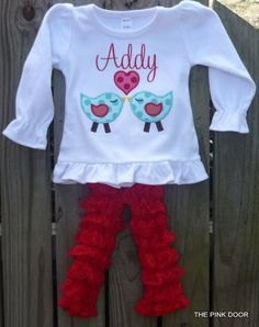 Cute Valentine's Day outfit for little girls