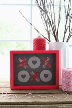 DIY last minute Valentine's Day project by the Tiny Prints blog
