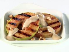 Perfect for fall - Grilled Apple Slices with Caramel-Mascarpone Cream (Pacific Northwest) Recipe : Giada De Laurentiis