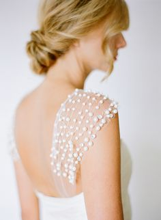 Pearl beading on gown