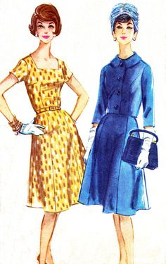 Love it with the jacket. Elegant! Vintage McCall's Sewing Pattern, ca. 1960s