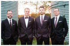 Plum Suited Groomsmen
