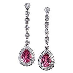 Pink earrings for a formal Belle's pink dress