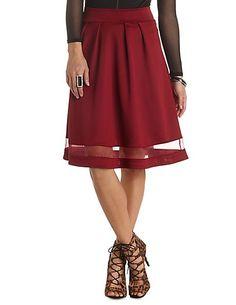 Organza Cut-Out Full Midi Skirt #CharlotteRusse #CRfashionista #skirt