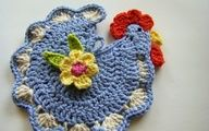 crochet rooster free patterns   Crochet rooster - Annie's Attic Whimsical Potholders