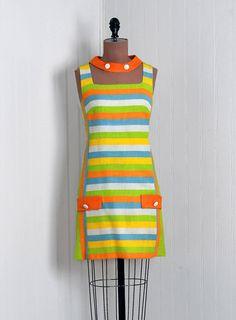 1960's Rainbow-Stripe Linen