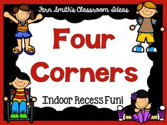 Indoor Recess ~ Four Corners Directions #Free Printable