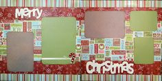 christmas scrapbook layouts   Scrapbooking Layout Christmas 2 Page Scrapbook Kit by upinthenight
