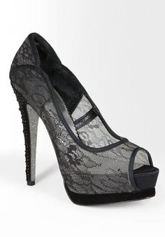 Danita Lace Peep Toe Pump