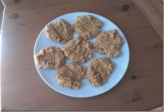 Protein powder peanut butter cookies - All you need is: 1/2 cup peanut butter, 1/2 cup vanilla whey protein powder and 1 egg.  Preheat oven to 350 degrees. Mix ingredients. Drop spoonfuls of batter on cookie sheet. Press down in crisscross pattern with a fork. Bake for 7-10 minutes or until done. Eat.