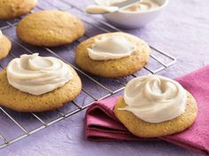 Pumpkin Cookies with Browned Butter Frosting -for the frosting