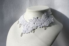 Valetine NECKLACE  Venice  White  Bridal  Wedding  by ktimages