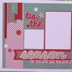 Beautiful Tis the Season Scrapbook Layout Kit by DesignsOnCloud9, $7.49