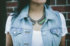 Haute Off The Rack in our Jeweled Collar Necklace!